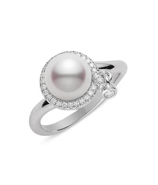 Cincin mutiara dan berlian
