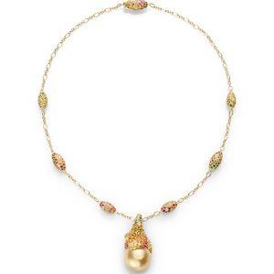 Kombinasi kalung emas dan liontin mutiara. info hp/wa: +628788894689