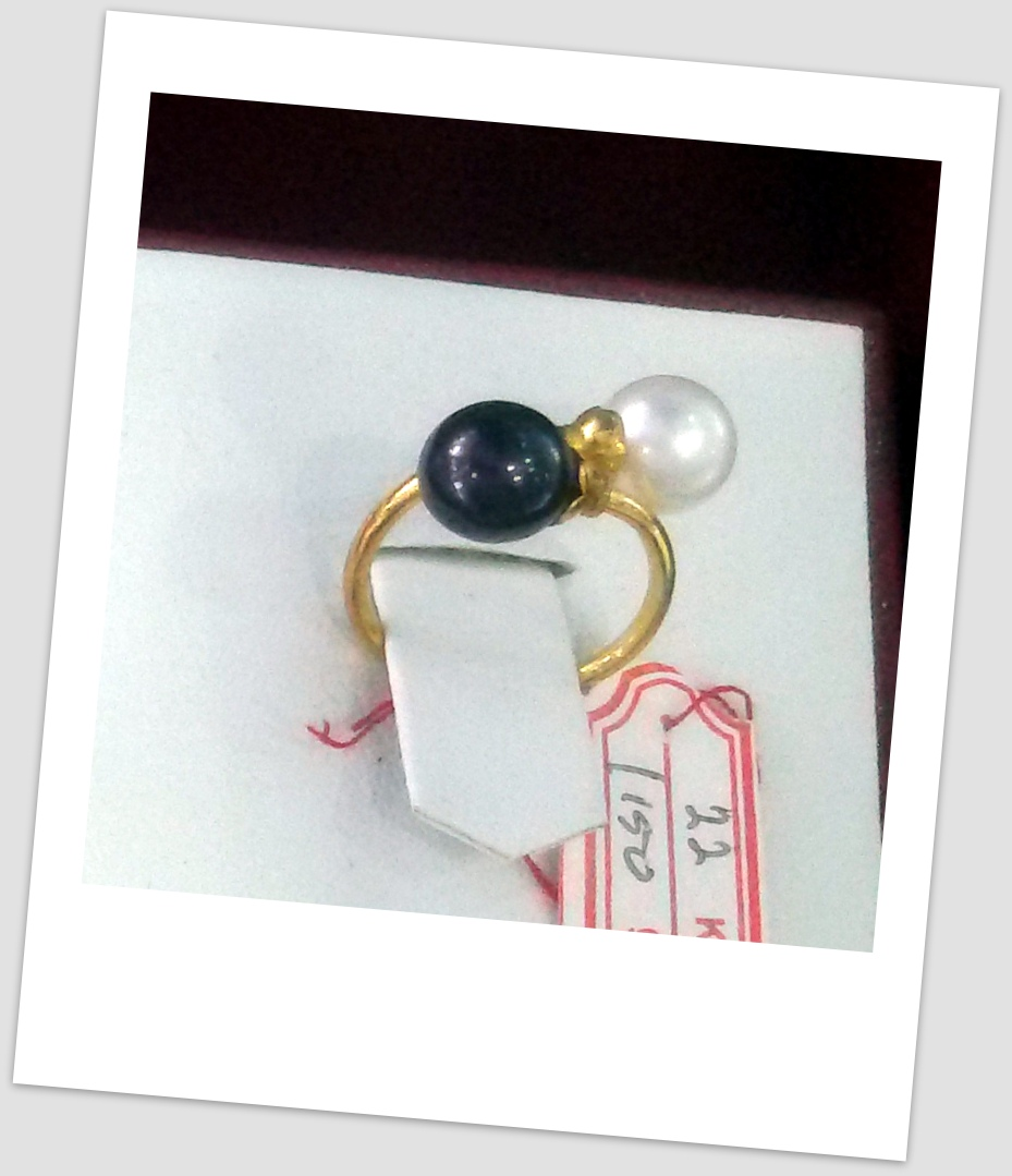 handmade gold ring with south sea pearl ctr 077 harga