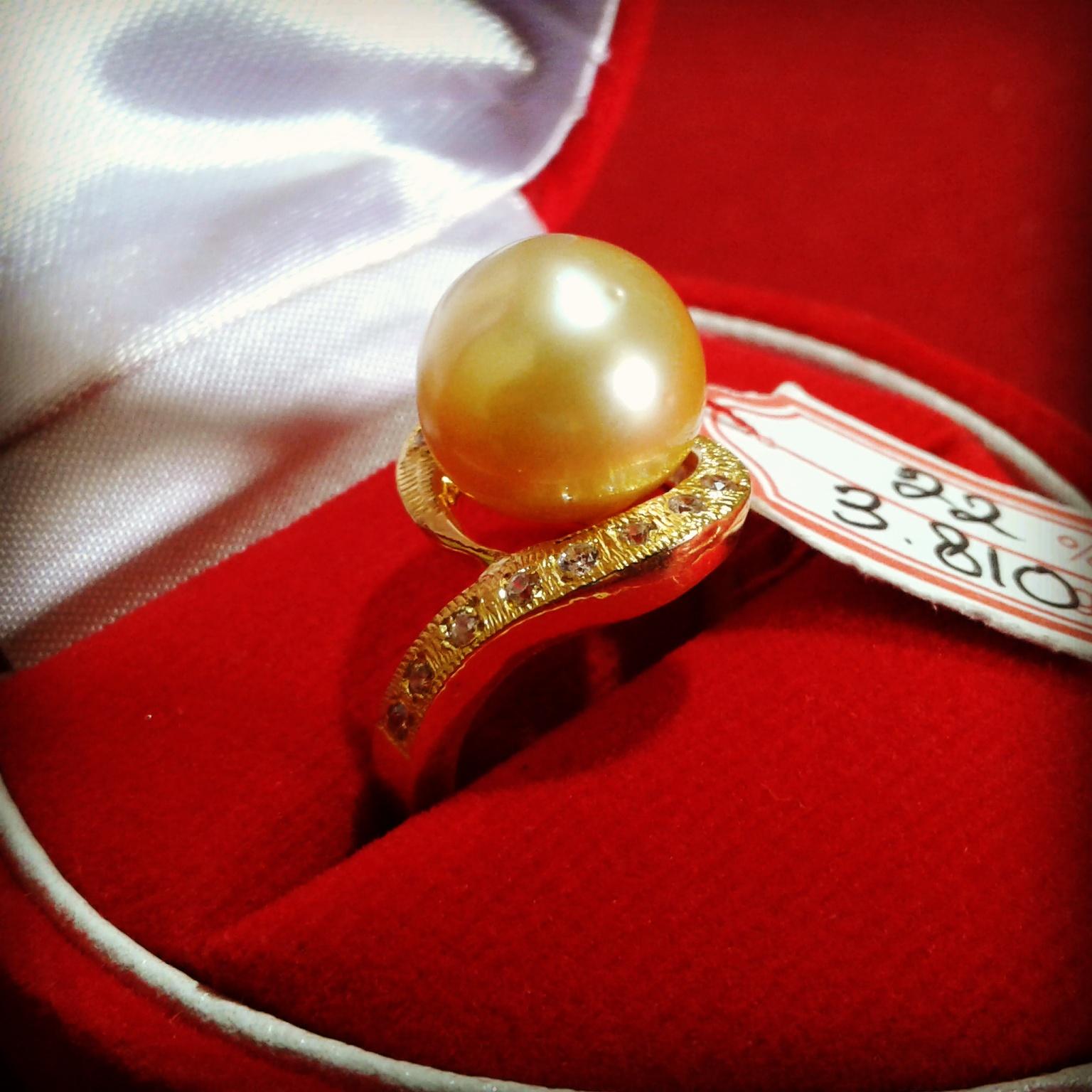 Handmade Pearl Gold Ring (CEZ-11)